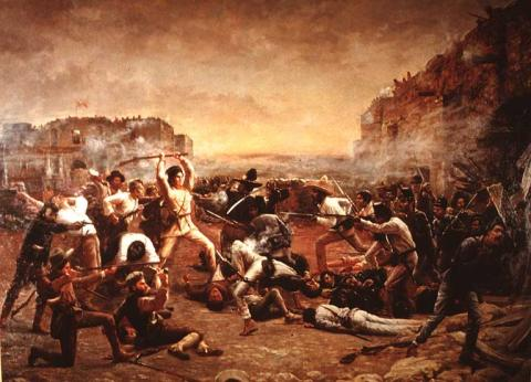 REMEMBER THE ALAMO (Illustration) American History Famous People Film History Legends and Legendary People Social Studies Nineteenth Century Life Nonfiction Works Famous Historical Events