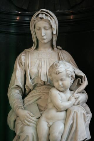 Bruges - Michelangelo's Madonna and Child Medieval Times Philosophy Visual Arts