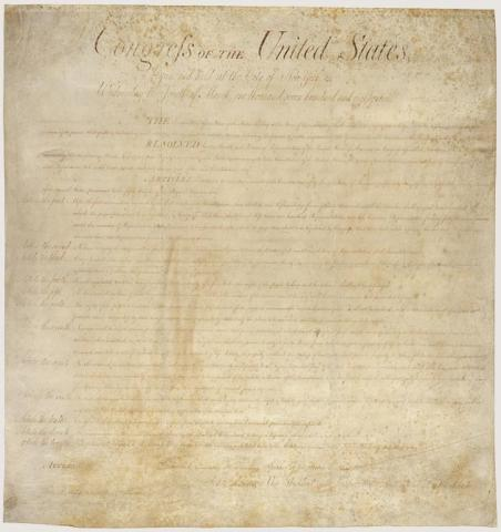 Bill of Rights - Original Document American History Ethics Philosophy Government Law and Politics