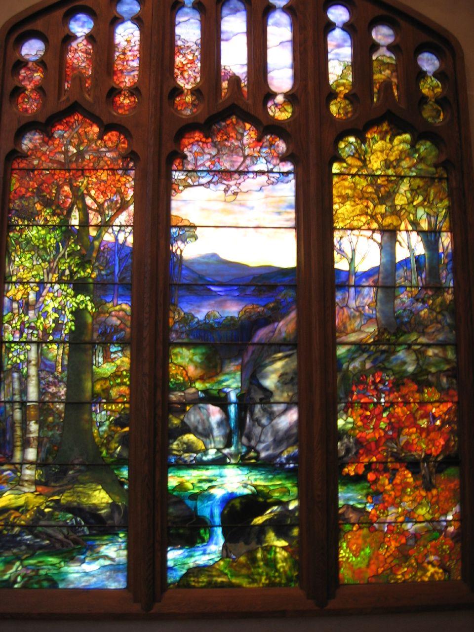 Tiffany window metropolitan museum of art for Art glass windows