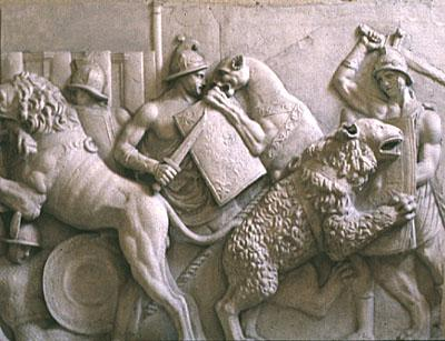 Wall Sculpture of Gladiators Ancient Places and/or Civilizations Awesome Radio - Narrated Stories Biographies Fiction Film Geography Philosophy Legends and Legendary People