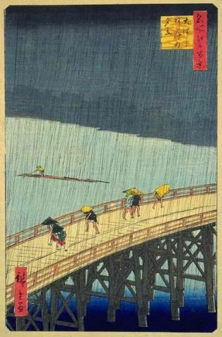 van Gogh and Hiroshige - Great Bridge Visual Arts Nineteenth Century Life Tragedies and Triumphs