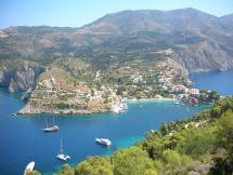 View of Assos, a Village on the Island of Cephalonia