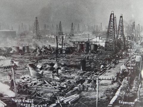 OIL IN TEXAS (Illustration) Biographies Famous Historical Events Film Geography Social Studies STEM American History Aviation & Space Exploration