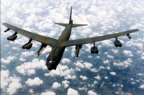 B-52 in Flight Cold War Famous Historical Events Government World History American History