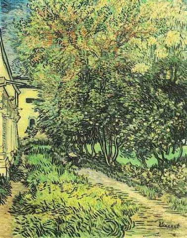 Garden at Hospital - Vincent's Painting Geography Medicine Tragedies and Triumphs Visual Arts Nineteenth Century Life Famous People