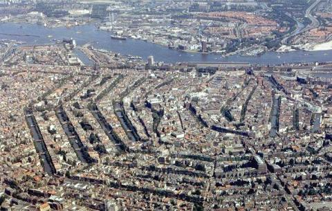 Amsterdam - Aerial View of Canals Geography Philosophy Visual Arts Disasters