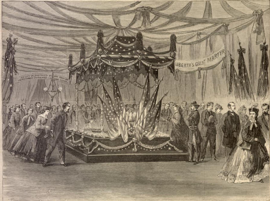 Abraham Lincoln Funeral In Chicago Special Catafalque