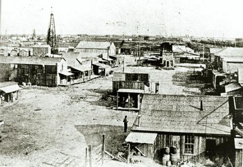 Early Days of Oil Exploration- Gladys City, Texas American History Geography Social Studies