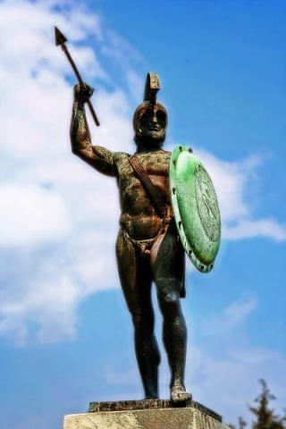 300 - Leonidas in Bronze, at Thermopylae Archeological Wonders Ancient Places and/or Civilizations Geography History Social Studies World History