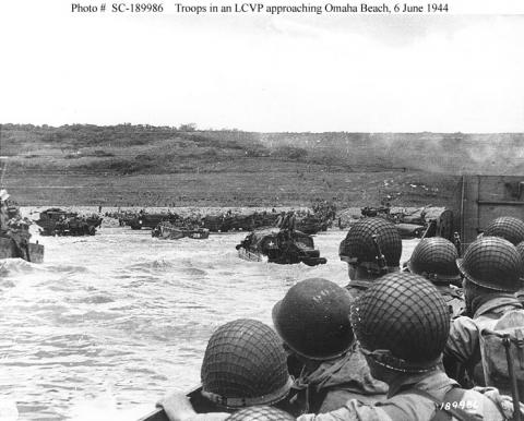 Approaching Omaha Beach Famous Historical Events Social Studies World War II Visual Arts