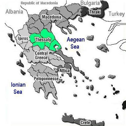 Thessaly - Location in Ancient Greece Geography Social Studies Ancient ...