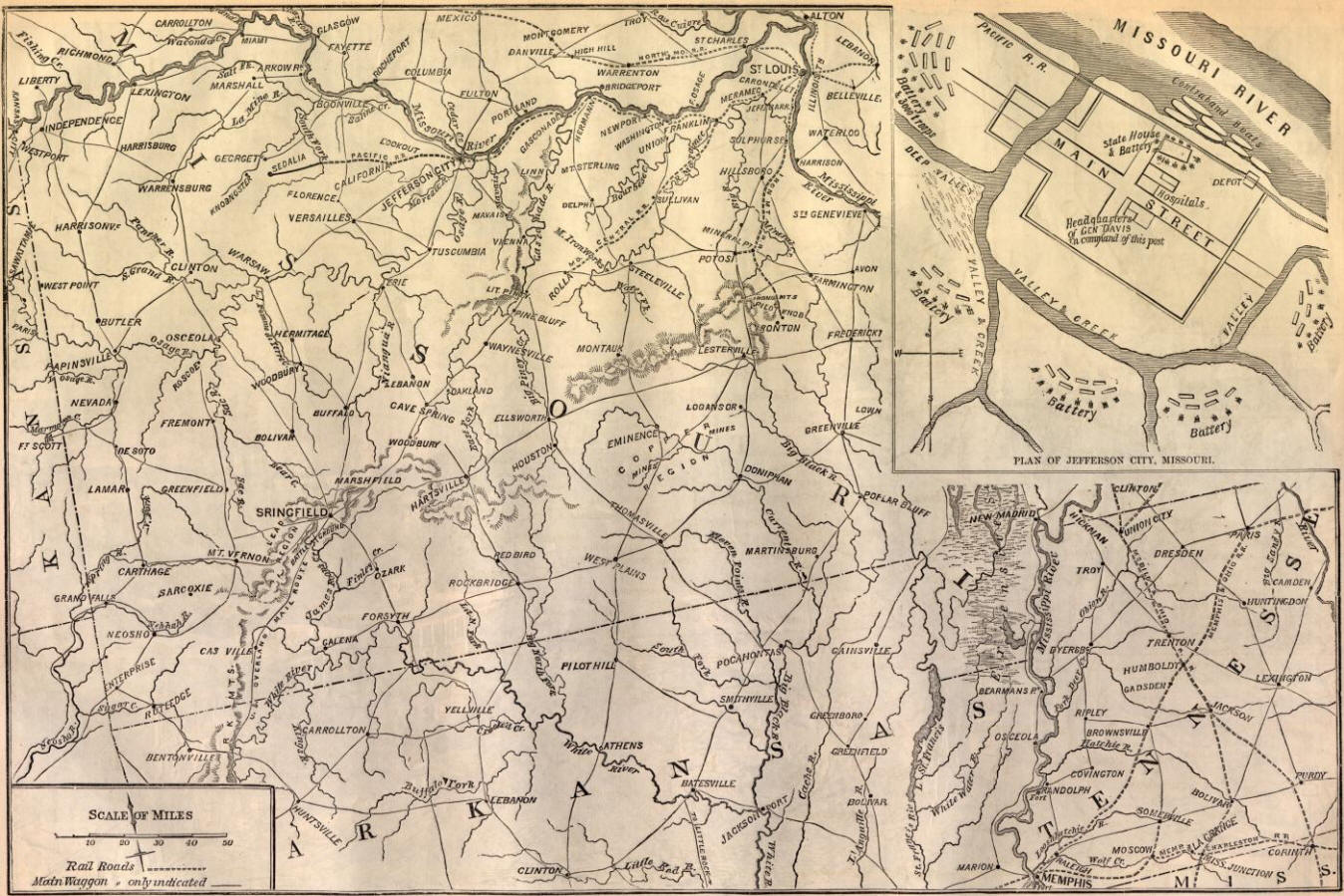 Battle Map Of Missouri - Map of missouri
