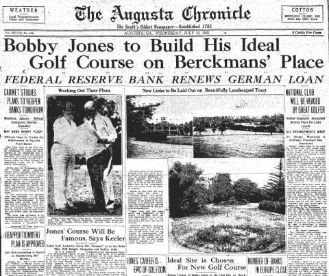 Bobby Jones Envisions Augusta National Golf Club (Illustration) Visual Arts Famous People Sports Tragedies and Triumphs