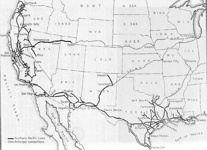 Map Railroad Lines In The Western United States - Western us railroad map
