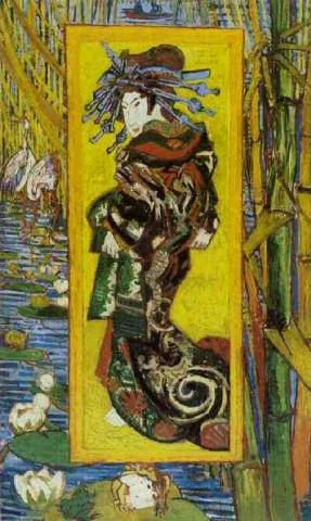 Oiran - A Painting by van Gogh Social Studies Tragedies and Triumphs Nineteenth Century Life Visual Arts