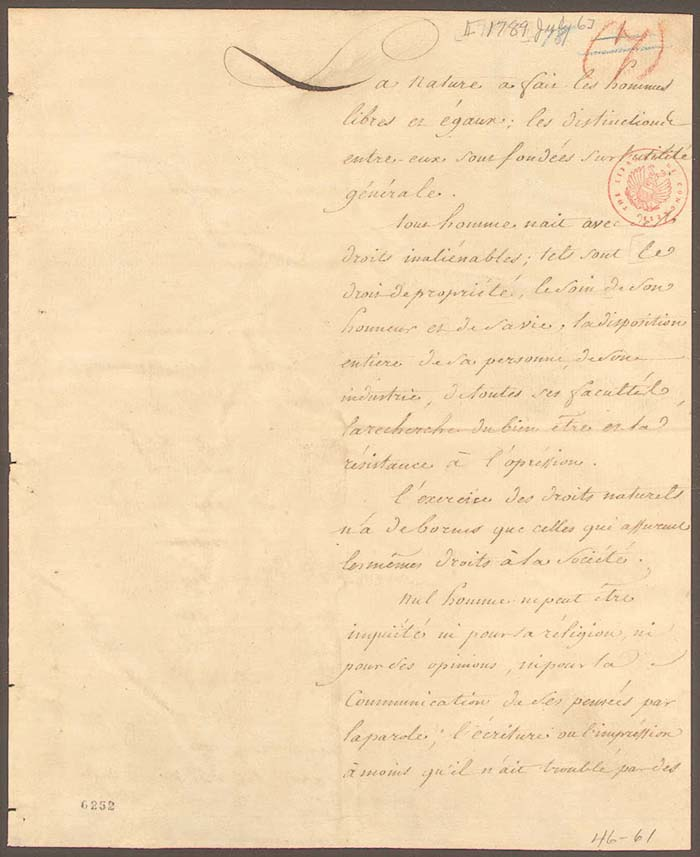 declaration of the rights of man Declaration of the rights of woman and citizen [1791] by olympe de gouges the rights of woman man, are you capable of being.
