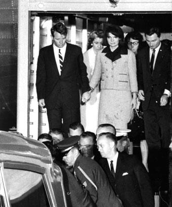 Mrs. Kennedy Arrives at Andrews on Air Force One American History Government The Kennedys Tragedies and Triumphs
