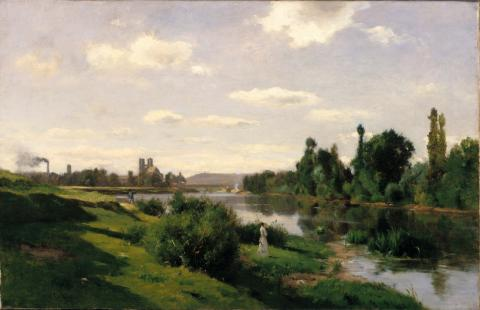Charles Daubigny - The River Seine at Mantes Geography Famous People Social Studies Tragedies and Triumphs