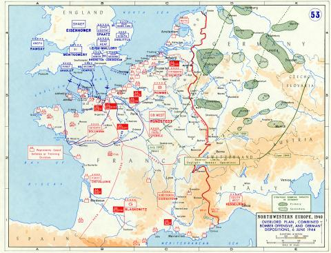 Map - Northwestern Europe, 1940 Social Studies World War II Geography