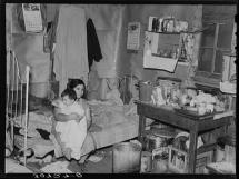 Interior of Migrant Family Home