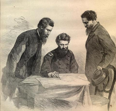 Baker Plans the Capture of John Wilkes Booth (Illustration) American History American Presidents Trials