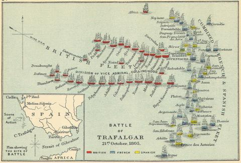 Battle of Trafalgar - Nelson's Winning Plan (Illustration) Assassinations Biographies Famous Historical Events Famous People Legends and Legendary People Tragedies and Triumphs