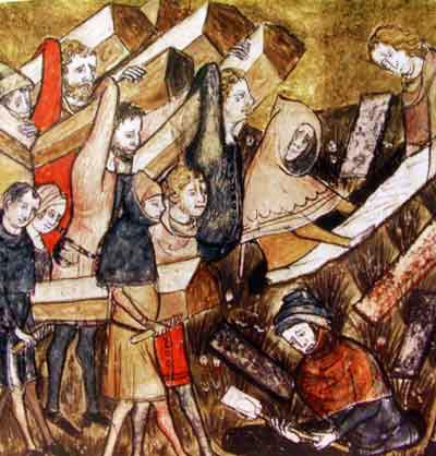 Black Death Victims - Funeral at Tournai, Belgium Medicine Visual Arts World History Medieval Times Disasters
