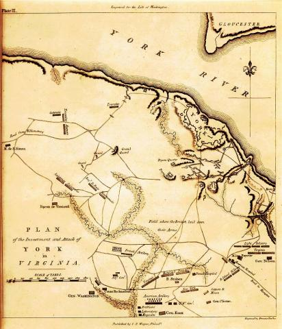 Plan of the Investment and Attack of York in Virginia