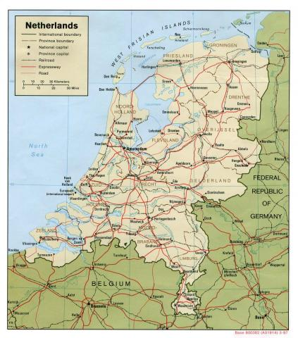 Map of the Netherlands Biographies History Social Studies Nineteenth Century Life Geography