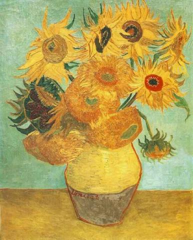 Vase with Twelve Sunflowers - January, 1889 Biographies Tragedies and Triumphs Visual Arts Nineteenth Century Life