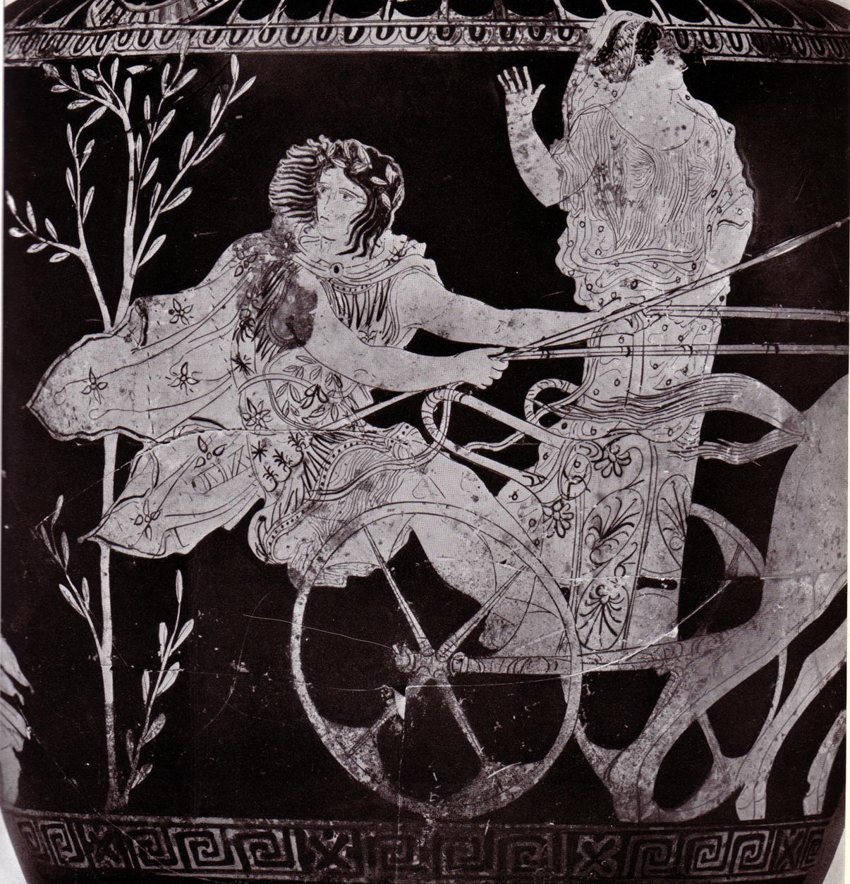 chariot race scene