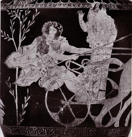 Chariot Race Scene - Ancient Greek Vase Ancient Places and/or Civilizations Sports Legends and Legendary People Visual Arts