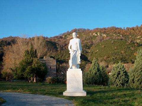 Statue of Aristotle at His Birthplace Ancient Places and/or Civilizations Famous People Social Studies Visual Arts World History Philosophy