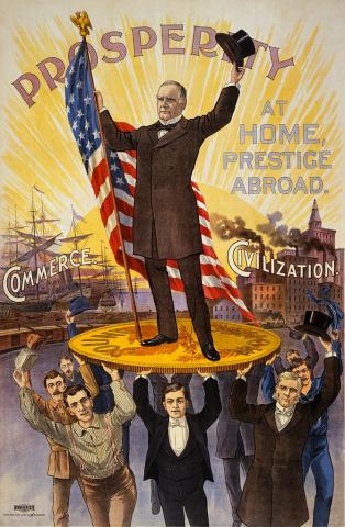1900 Election Poster for the Republicans
