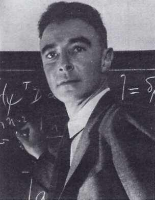 Photograph of Dr. Robert Oppenheimer a scientist at the Los Alamos Laboratiory
