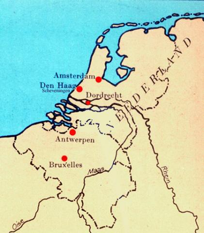 Location of The Hague, Netherlands Tragedies and Triumphs Visual Arts Nineteenth Century Life Geography