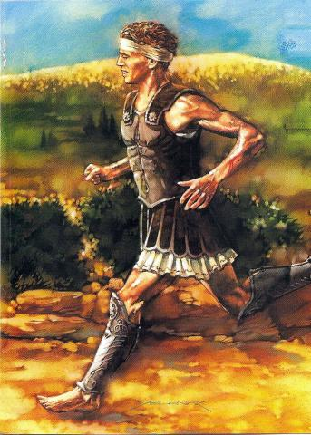 Legendary Runner of Marathon - Pheidippides (Illustration) Ancient Places and/or Civilizations Sports Tragedies and Triumphs Legends and Legendary People World History