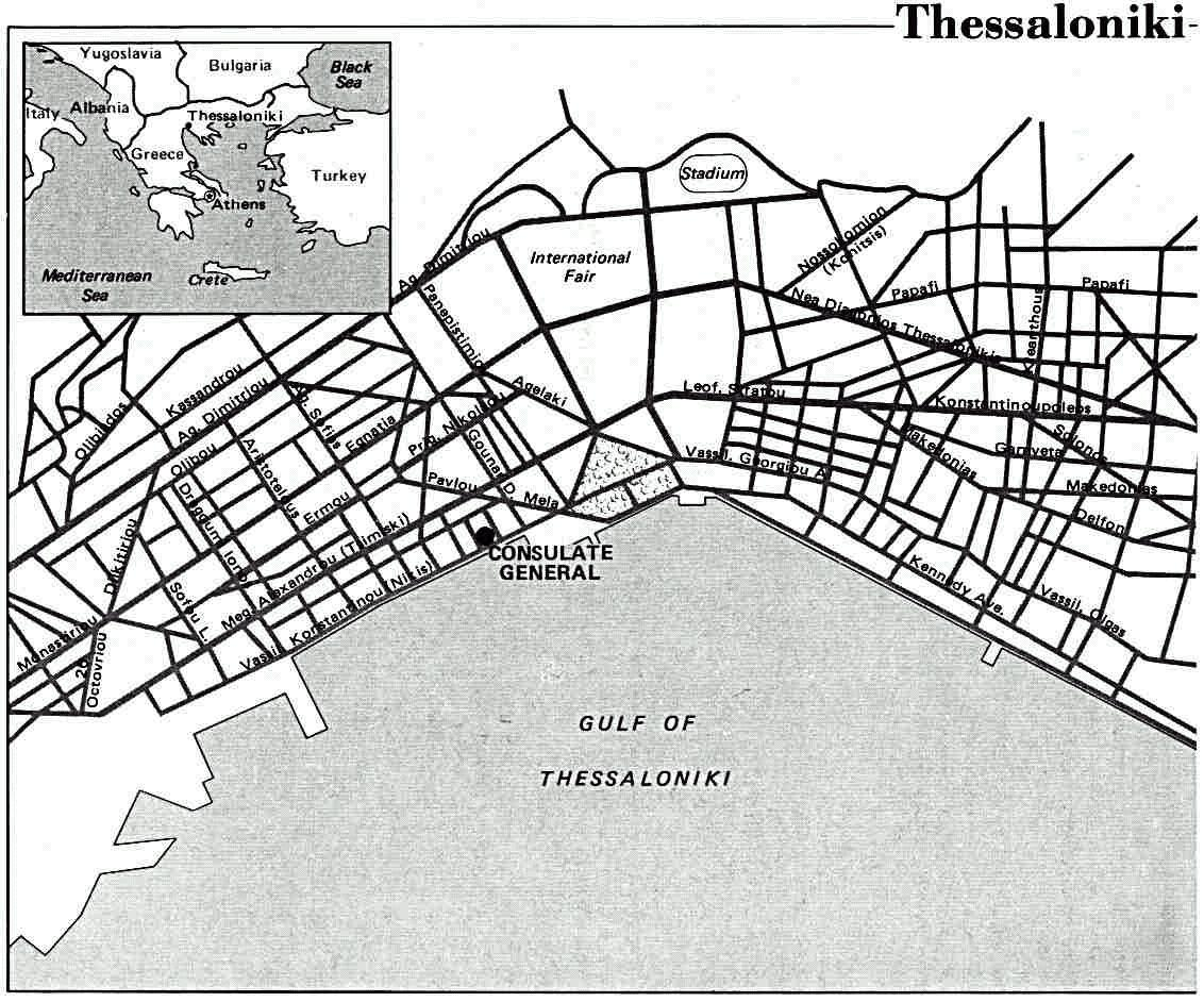 Map of Thessaloniki