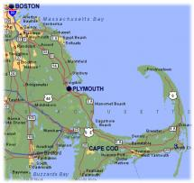 Pilgrims - Location of Plymouth Colony