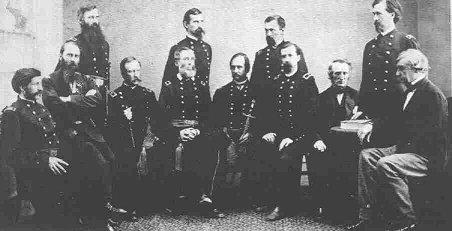 Members of the Military Commission - Surratt Trial Famous Historical Events American History Social Studies Trials Nineteenth Century Life