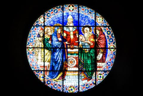 Florence - Dome Stained-Glass Window Visual Arts Philosophy