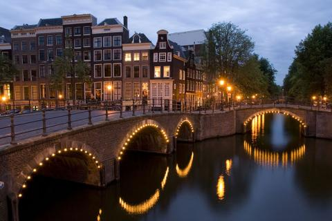Amsterdam - Nightime in the City Medieval Times Visual Arts World History Geography