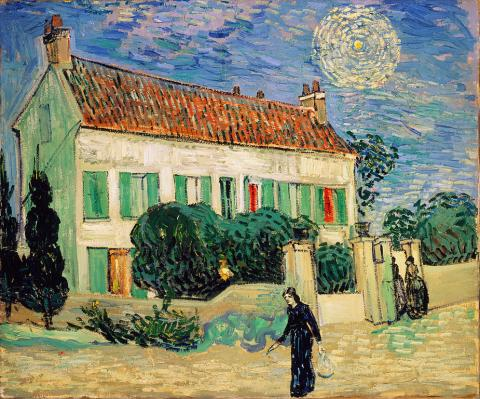 Vincent van Gogh - White House at Night - June, 1890 Famous People Social Studies Visual Arts Nineteenth Century Life