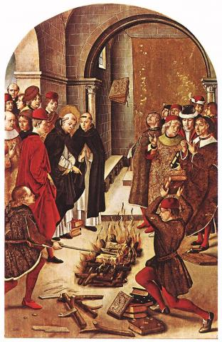 Burning Books: Medieval Painting Censorship Civil Rights Medieval Times Disasters