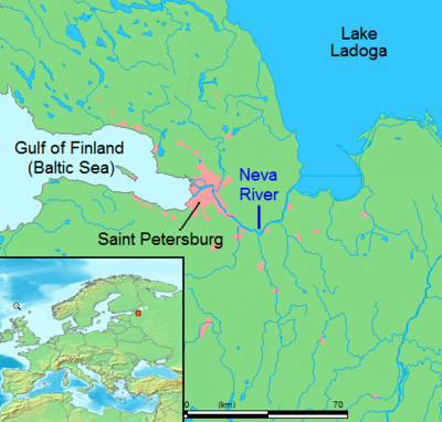 Locator Map - Neva River Geography Social Studies