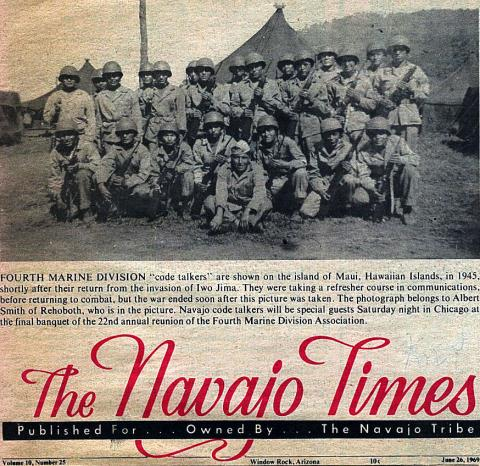 Navajo Times - Code Talkers of the 4th Marines American History Native-Americans and First Peoples  Social Studies Tragedies and Triumphs World War II Visual Arts