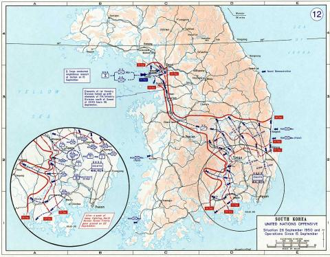 South Korea - Theater of Operations - Map Geography Cold War American History Government