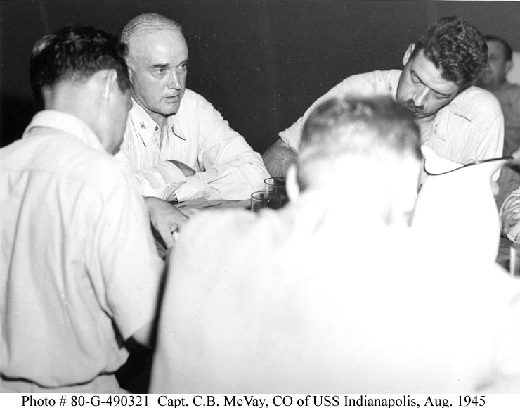 Captain C.B. McVay of the USS Indianapolis World War II American History Ethics