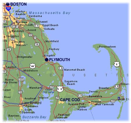 Pilgrims Location Of Plymouth Colony
